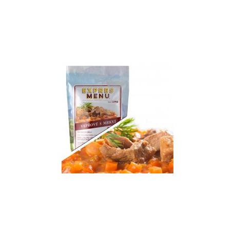 Vepřové maso s mrkví 300g (1 porce)