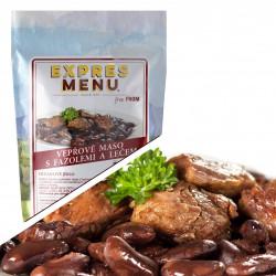 Vepřové maso s fazolemi a lečem 300g (1 porce)