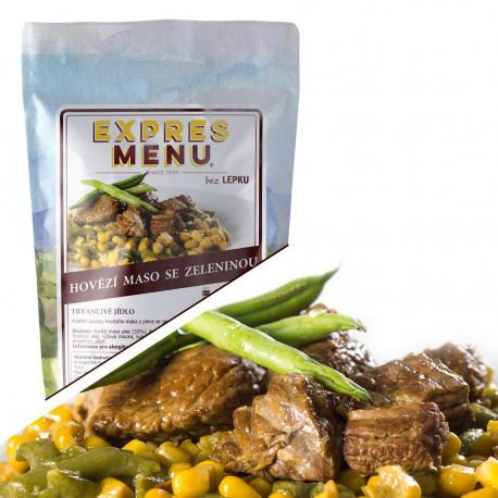 Hovězí maso se zeleninou 300g (1 porce)