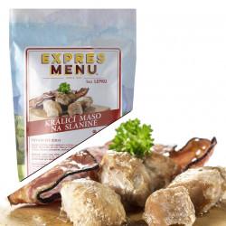 Králičí maso na slanině 300g (3 porce)