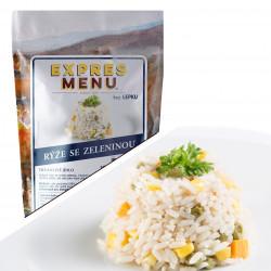 Dušená rýže se zeleninou 500g (2 porce)
