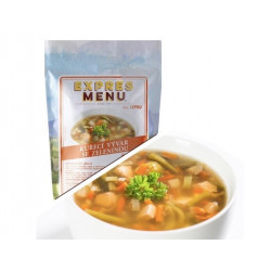 Kuřecí vývar se zeleninou 600g (2 porce)