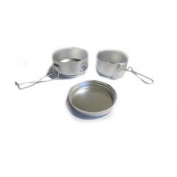 Nádobí hliníkové kempinkové - ešus, VAR 3 díly
